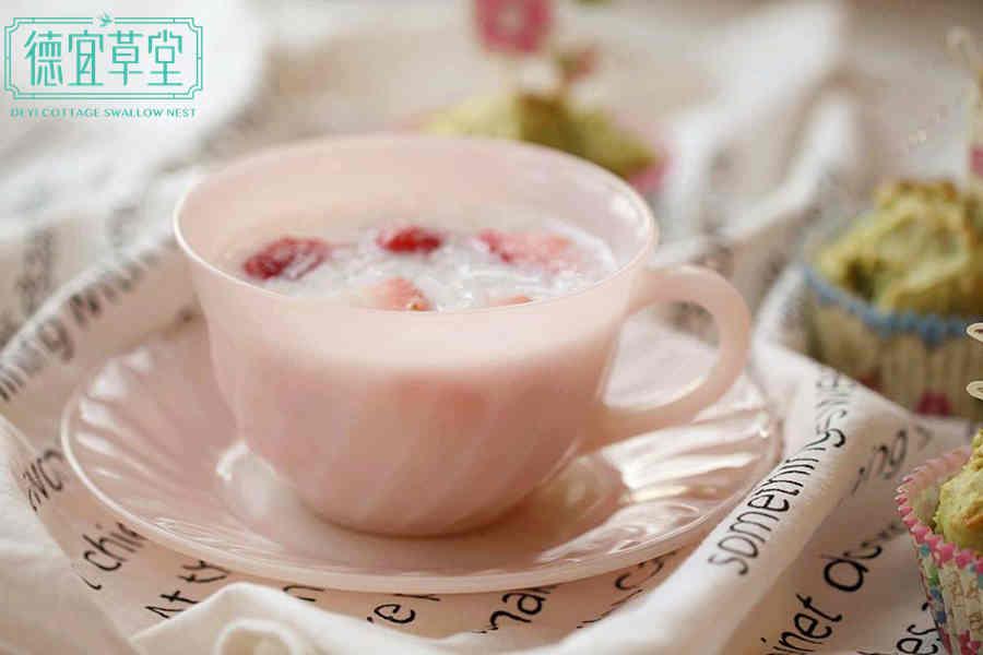 草莓牛奶燕窝的功效与作用