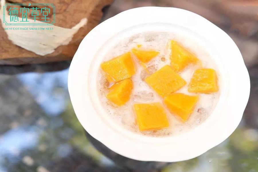 芒果可以和椰奶燕窝一起吃吗