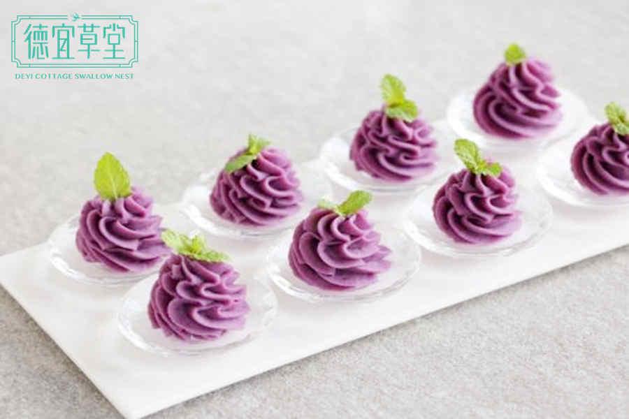 酸奶紫薯燕窝的做法