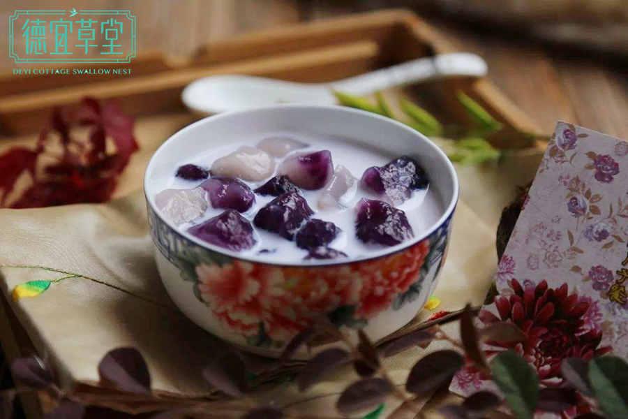 牛奶能和紫薯燕窝一起吃吗
